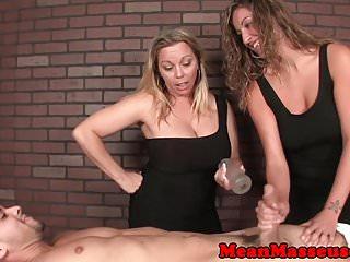Mean Massage Mistress T Amber Lynn Bach cbt massage herrin bernstein domintes in trio
