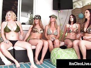 Big Tits von Studio Foxy Media Babes Its Cleo Live Maggie Green Jelena Jensen Carmen Valentina heiße webcam babe its cleo & Vicky Vette essen 6 Mädchen Pussies!