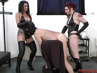 Mistress Jennifer Mistress T so viele schöne femdom Herrinnen quälen männliche Sklaven