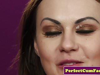 Fetish von Studio Videorama Cum Perfection Tina Kay Leder Fetisch Babe perfekt spunked auf Gesicht