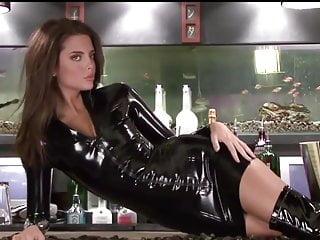 2 Lara Black Latex Ärmel Kleid