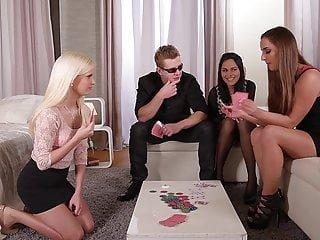 DDF Network Strip Poker Babes amirah & Aida Sweet & Candee Licious Fahrt