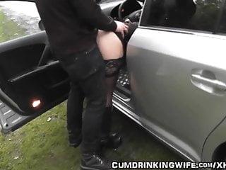 Gang Bang von Studio Red Light District Cum Drinking Wife Frau gangbanged auf Autobahn Rastplatz
