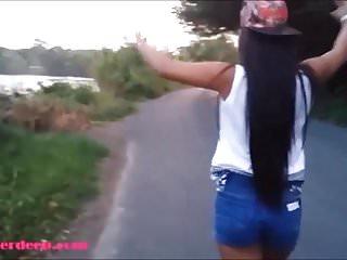 Heather Deep blinken auf der Autobahn gibt dann öffentliche Deepthroa
