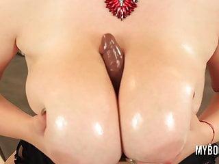 Huge Tits von Studio Elegant Angel My BooBs Channel Alexsis Faye Titten ficken mit riesigen braunen Dildo
