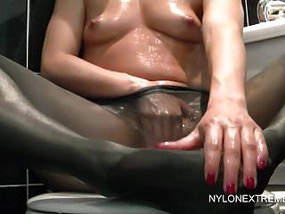 Nylon Extreme Chloe Lovette chloe Öle für Strumpfhosen spielen & dildo