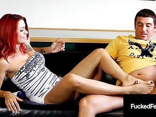 Girls von Studio Fleshlight Fucked Feet Schwanz streicheln Catherine Foxx Fuß fickt harten Schwanz john!