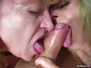 Old-n-young Real Granny Porn Lucky guy fickt zwei erstaunliche Omas