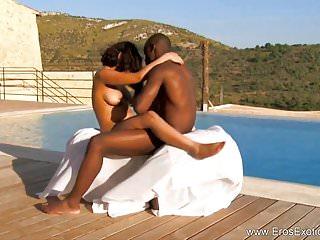 Eros Exotica HD afrikanische Ebenholz paar Workout sex