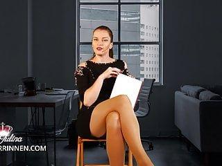 Domination von Studio Inflagranti Sado herrinnen Anwendung bei BüroHerrin als Nylon-, Schuh- & Fußskln