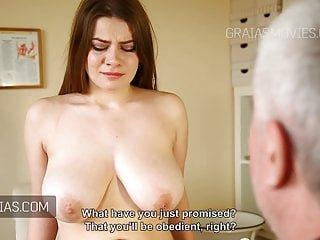 Natural Tits von Studio Devils Film Graias süße Mädchen mit großen natürlichen Titten umgeschlagen